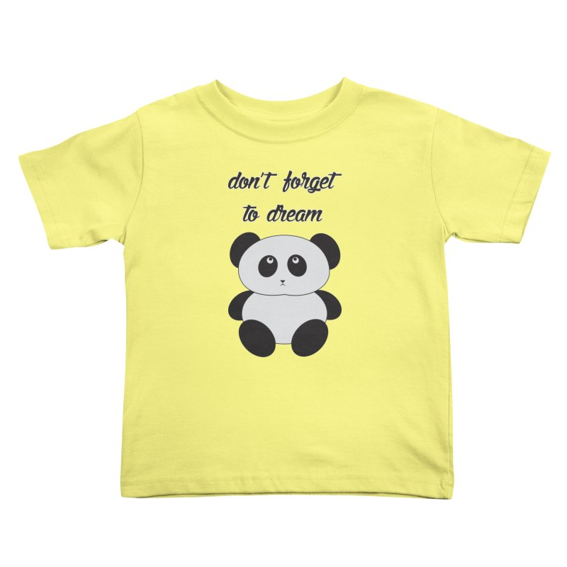 PANDA Kids Toddler T-Shirt by Sinazz's Artist Shop