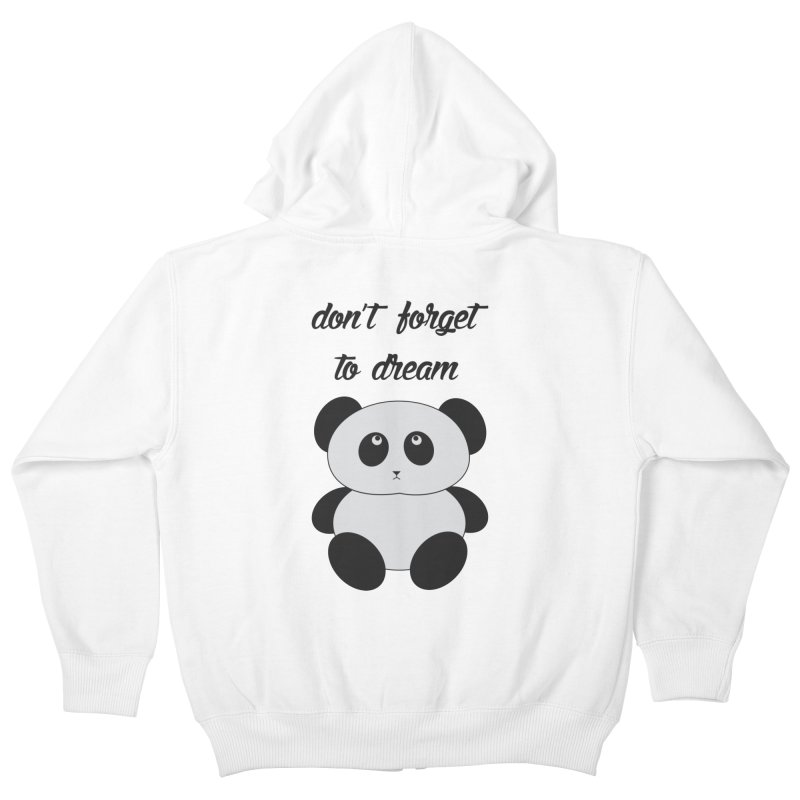 PANDA Kids Zip-Up Hoody by Sinazz's Artist Shop