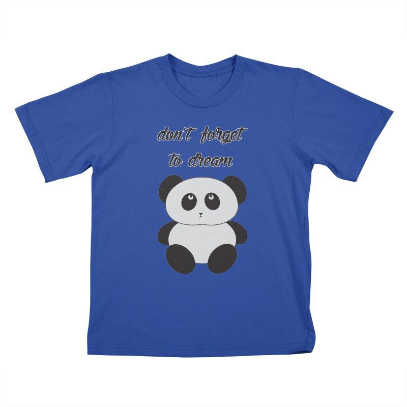 PANDA Kids T-Shirt by Sinazz's Artist Shop