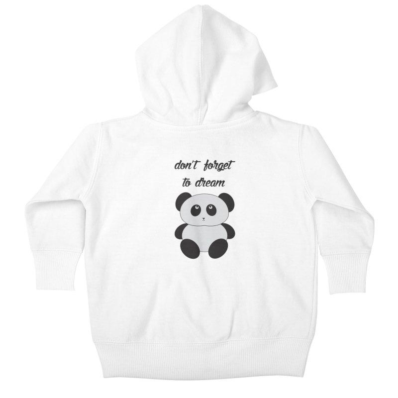 PANDA Kids Baby Zip-Up Hoody by Sinazz's Artist Shop