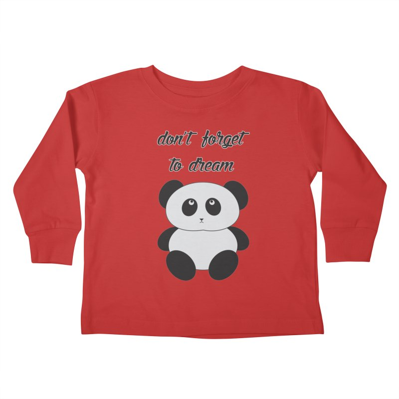PANDA Kids Toddler Longsleeve T-Shirt by Sinazz's Artist Shop