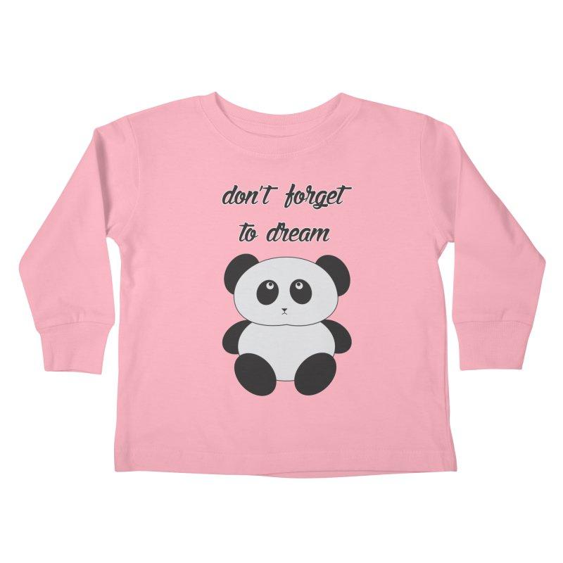 PANDA Kids Toddler Longsleeve T-Shirt by Sinazz's Artist Shop