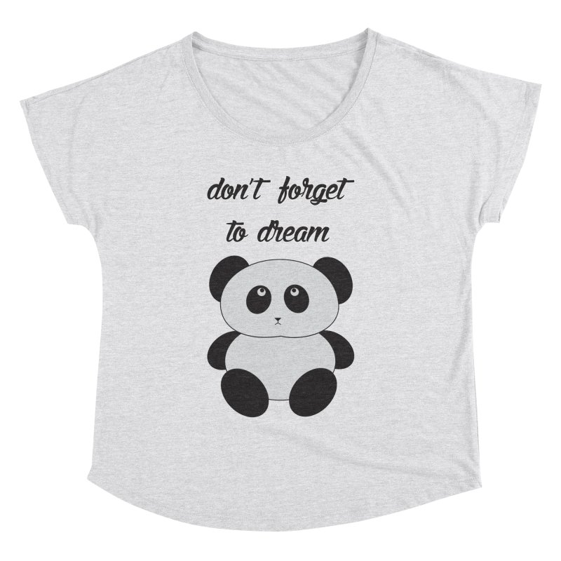 PANDA Women's Dolman Scoop Neck by Sinazz's Artist Shop