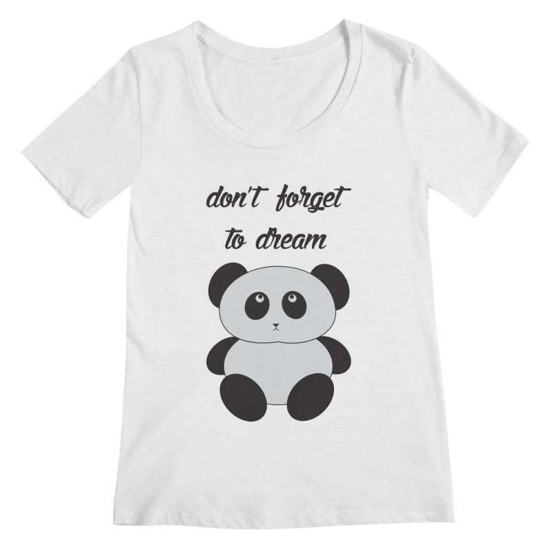 PANDA Women's Scoopneck by Sinazz's Artist Shop