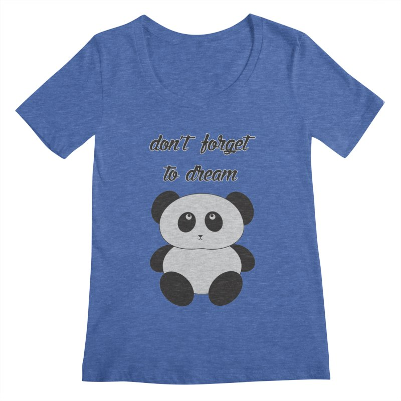 PANDA Women's Regular Scoop Neck by Sinazz's Artist Shop