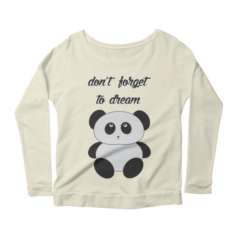 PANDA Women's Scoop Neck Longsleeve T-Shirt by Sinazz's Artist Shop
