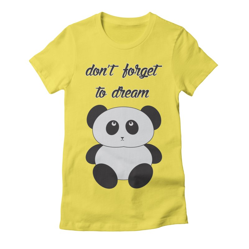 PANDA Women's Fitted T-Shirt by Sinazz's Artist Shop