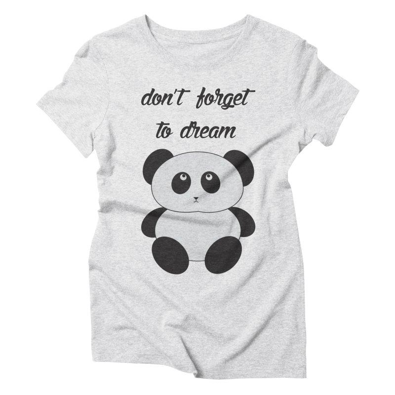PANDA Women's Triblend T-Shirt by Sinazz's Artist Shop