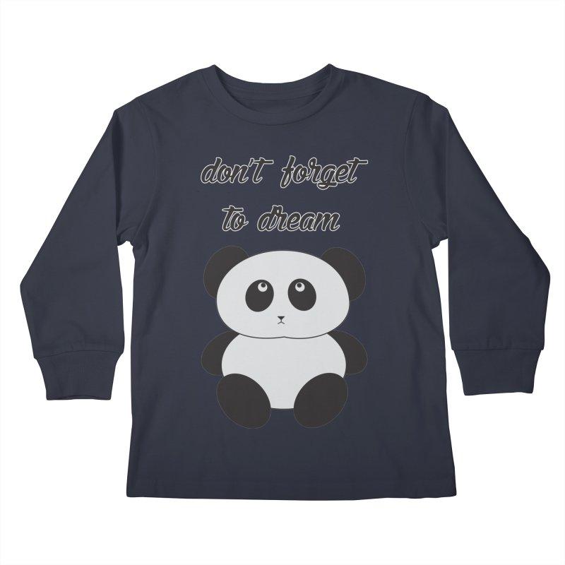 PANDA Kids Longsleeve T-Shirt by Sinazz's Artist Shop