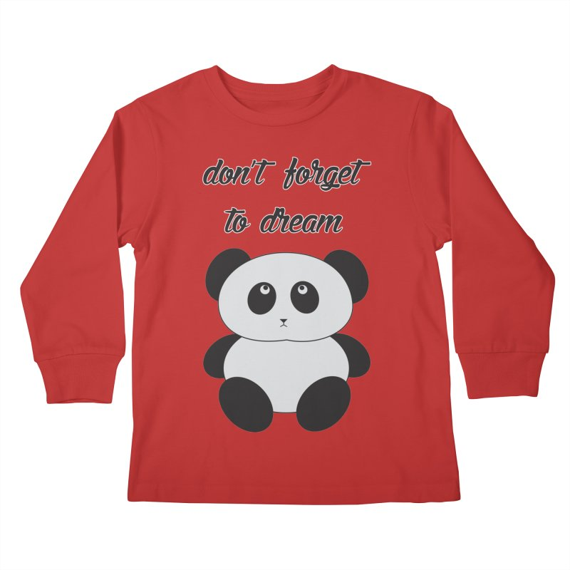 PANDA Kids Longsleeve T-Shirt by Sinazz's Artist Shop