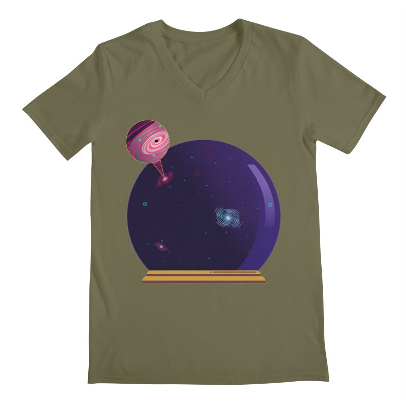 NEED SOME SPAAAACE Men's Regular V-Neck by Sinazz's Artist Shop