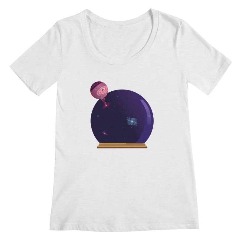 NEED SOME SPAAAACE Women's Regular Scoop Neck by Sinazz's Artist Shop