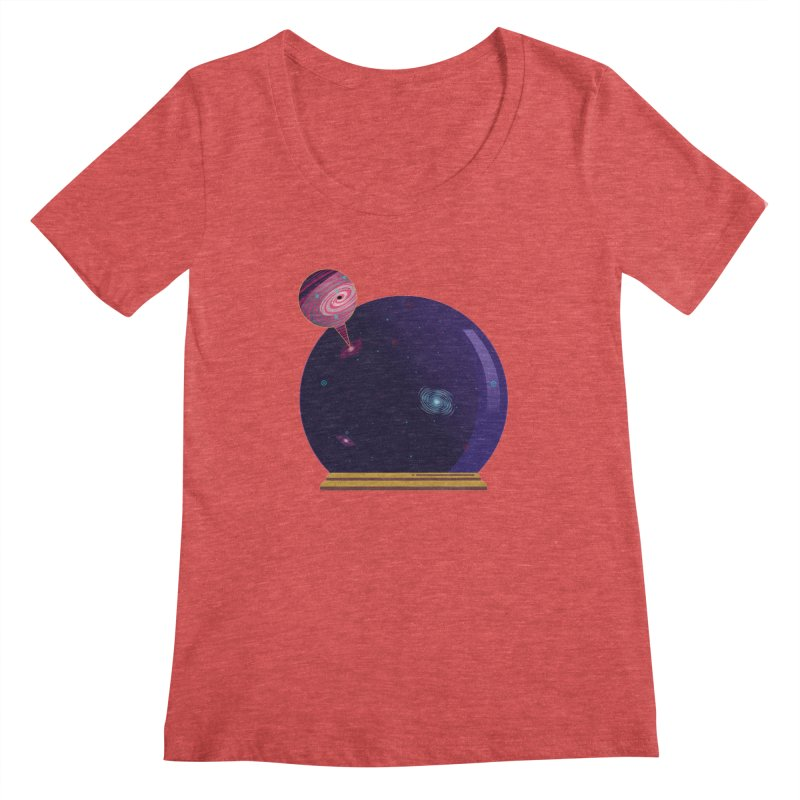 NEED SOME SPAAAACE Women's Scoopneck by Sinazz's Artist Shop
