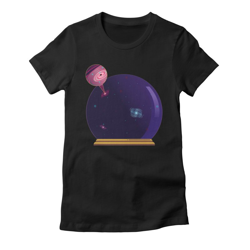 NEED SOME SPAAAACE Women's Fitted T-Shirt by Sinazz's Artist Shop