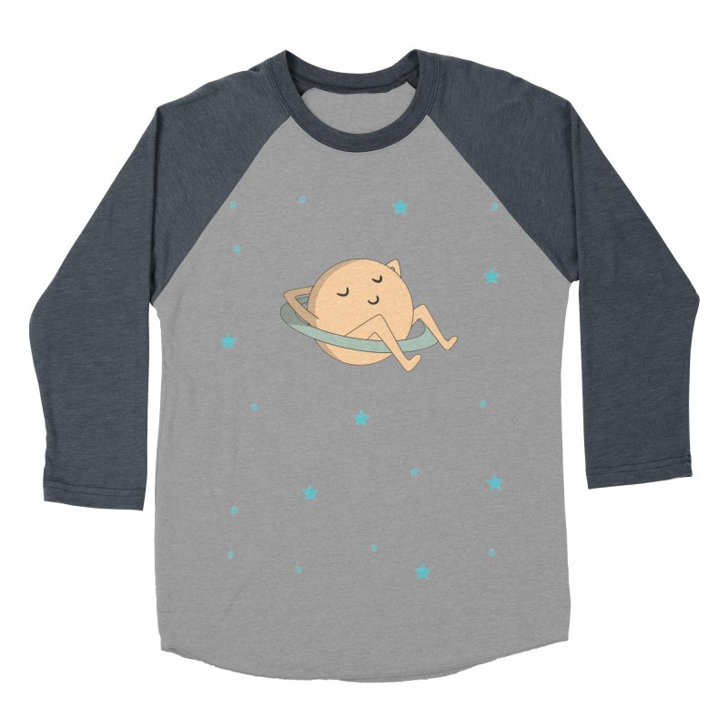 SATURN Men's Baseball Triblend Longsleeve T-Shirt by Sinazz's Artist Shop