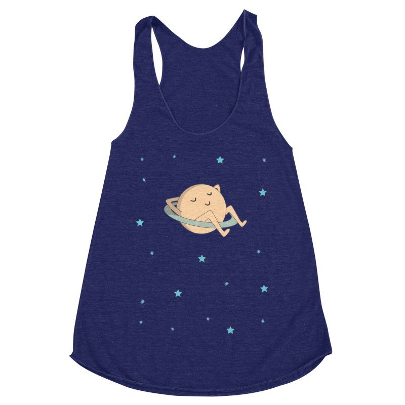 SATURN Women's Racerback Triblend Tank by Sinazz's Artist Shop