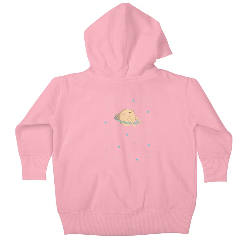 SATURN Kids Baby Zip-Up Hoody by Sinazz's Artist Shop