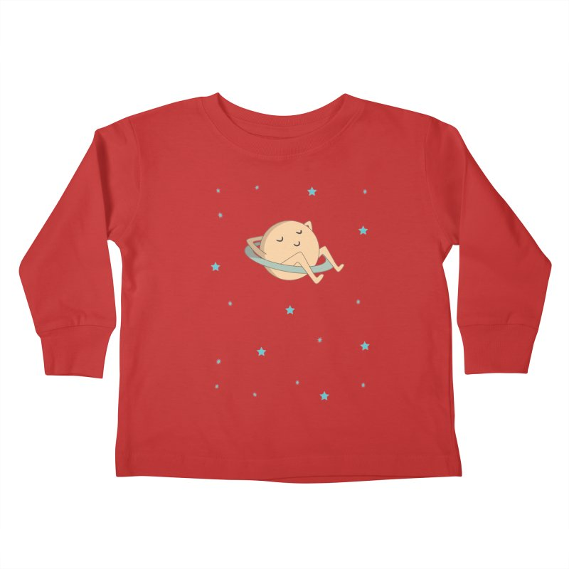 SATURN Kids Toddler Longsleeve T-Shirt by Sinazz's Artist Shop