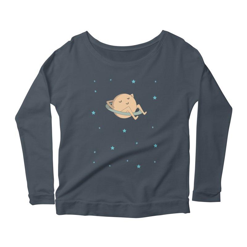 SATURN Women's Scoop Neck Longsleeve T-Shirt by Sinazz's Artist Shop
