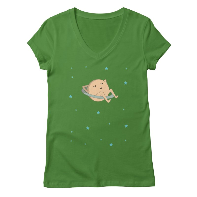 SATURN Women's Regular V-Neck by Sinazz's Artist Shop