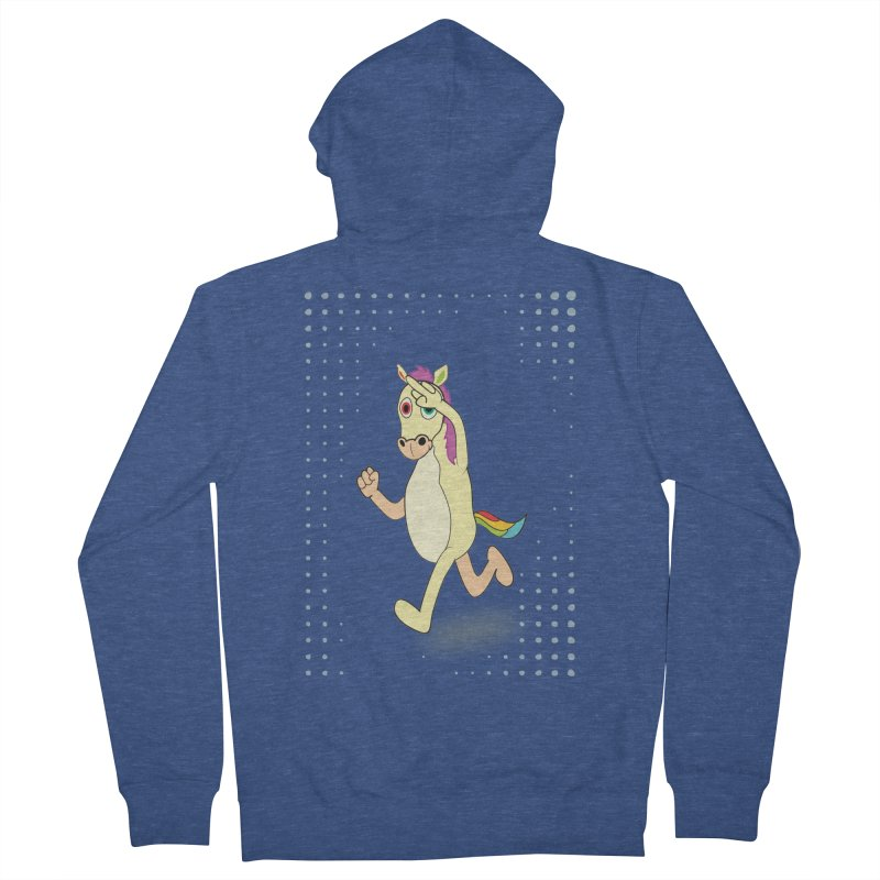 UNICORN Men's French Terry Zip-Up Hoody by Sinazz's Artist Shop