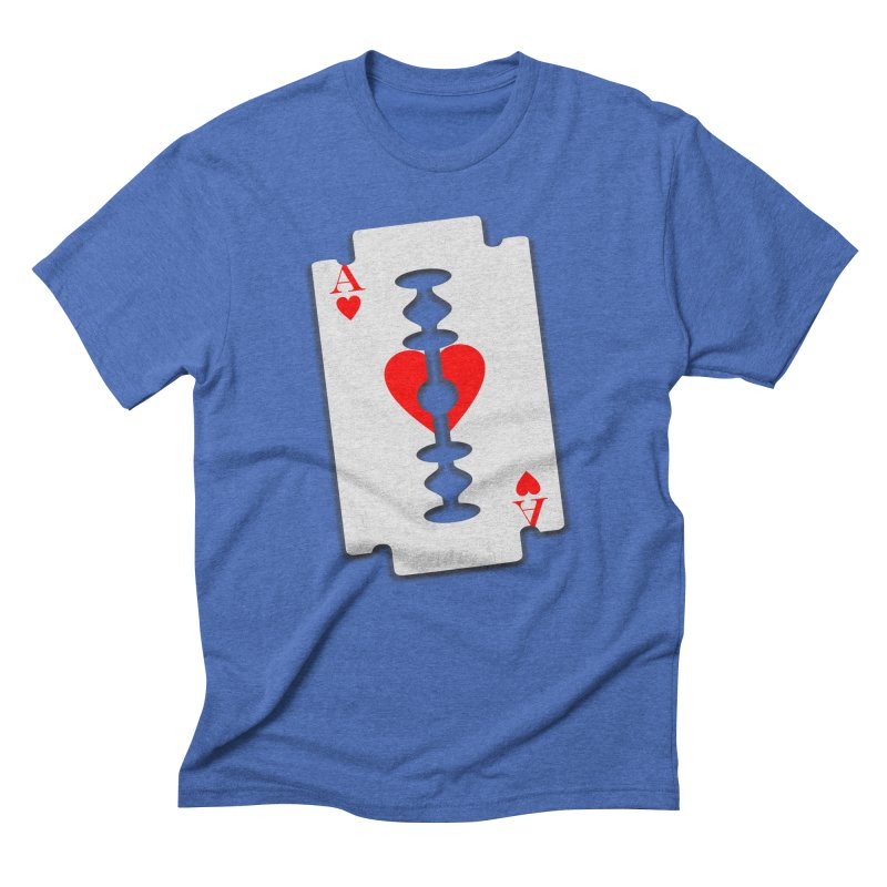 LOVE HURTS in Men's Triblend T-Shirt Blue Triblend by Sinazz's Artist Shop