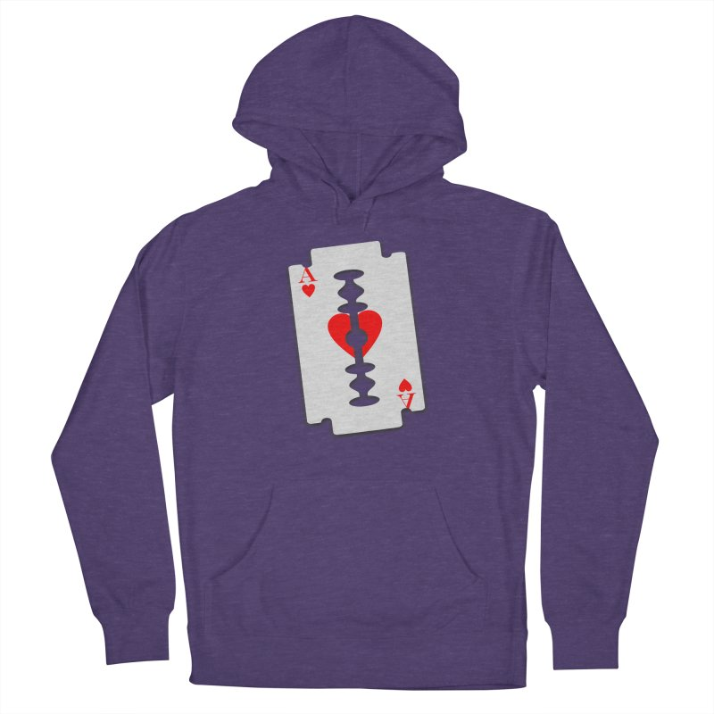 LOVE HURTS Women's French Terry Pullover Hoody by Sinazz's Artist Shop