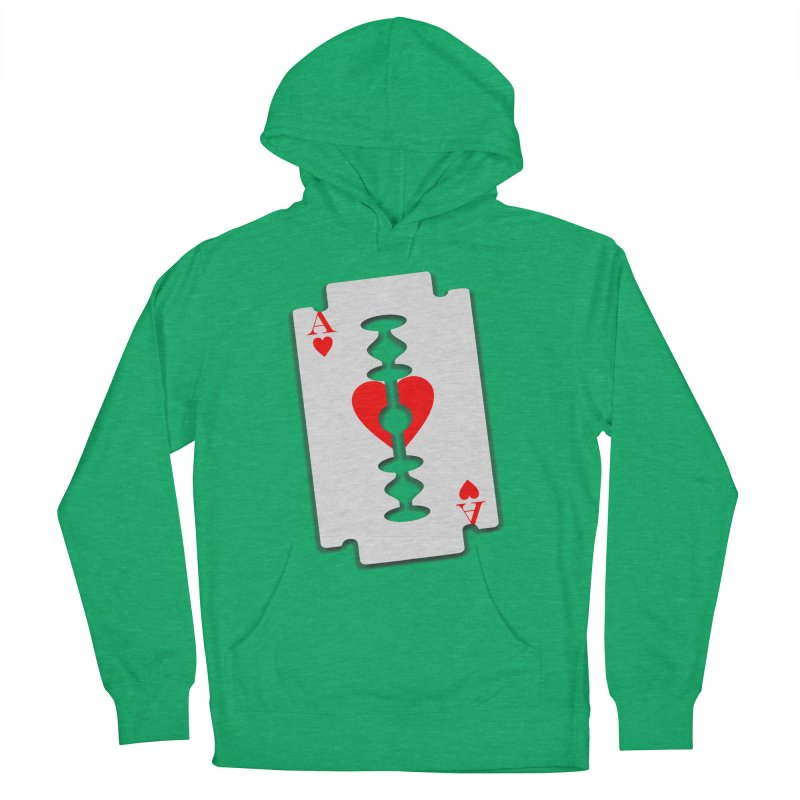 LOVE HURTS Men's French Terry Pullover Hoody by Sinazz's Artist Shop