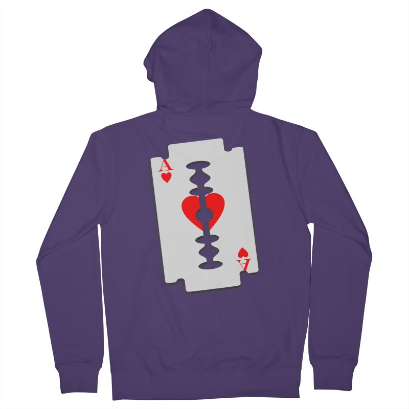 LOVE HURTS Women's French Terry Zip-Up Hoody by Sinazz's Artist Shop