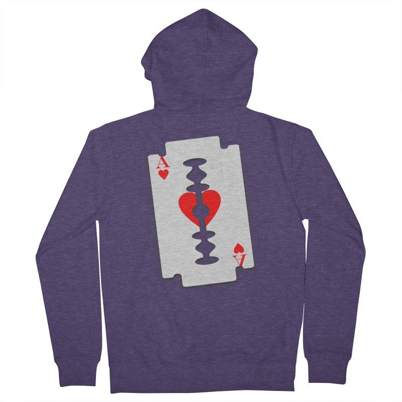 LOVE HURTS Men's Zip-Up Hoody by Sinazz's Artist Shop
