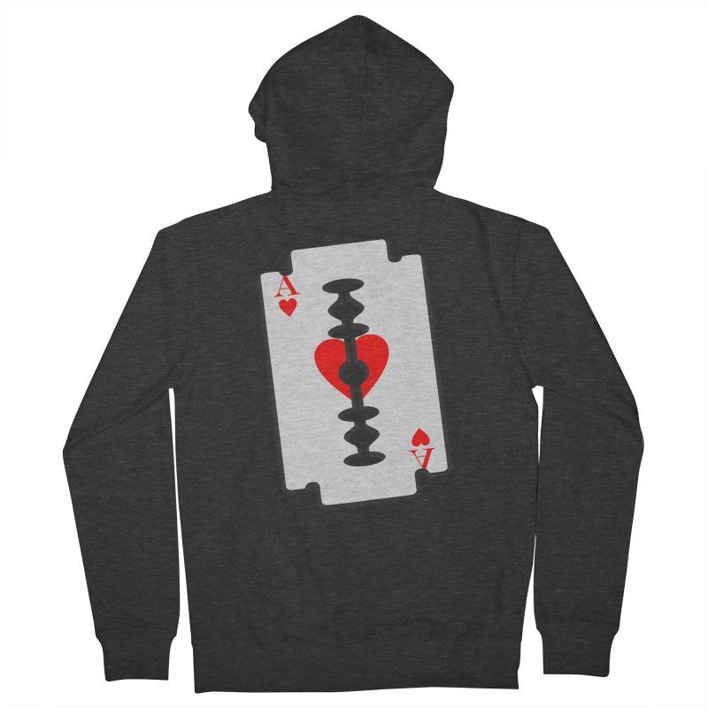 LOVE HURTS Men's French Terry Zip-Up Hoody by Sinazz's Artist Shop
