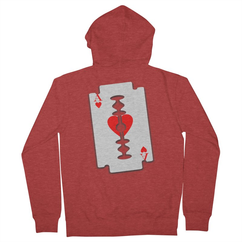 LOVE HURTS Men's Zip-Up Hoody by Sinazz's Artist Shop