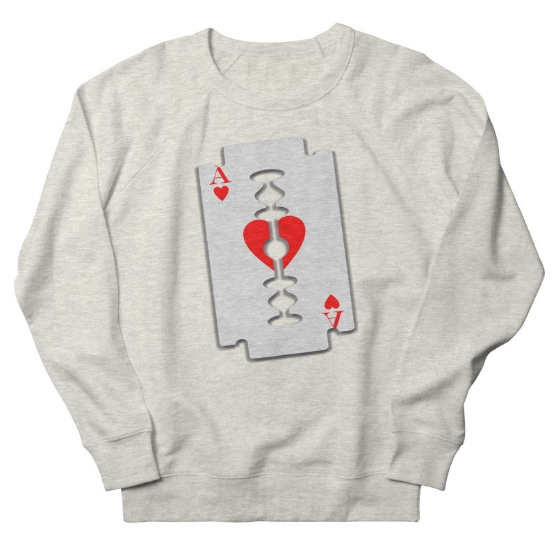 LOVE HURTS Women's French Terry Sweatshirt by Sinazz's Artist Shop