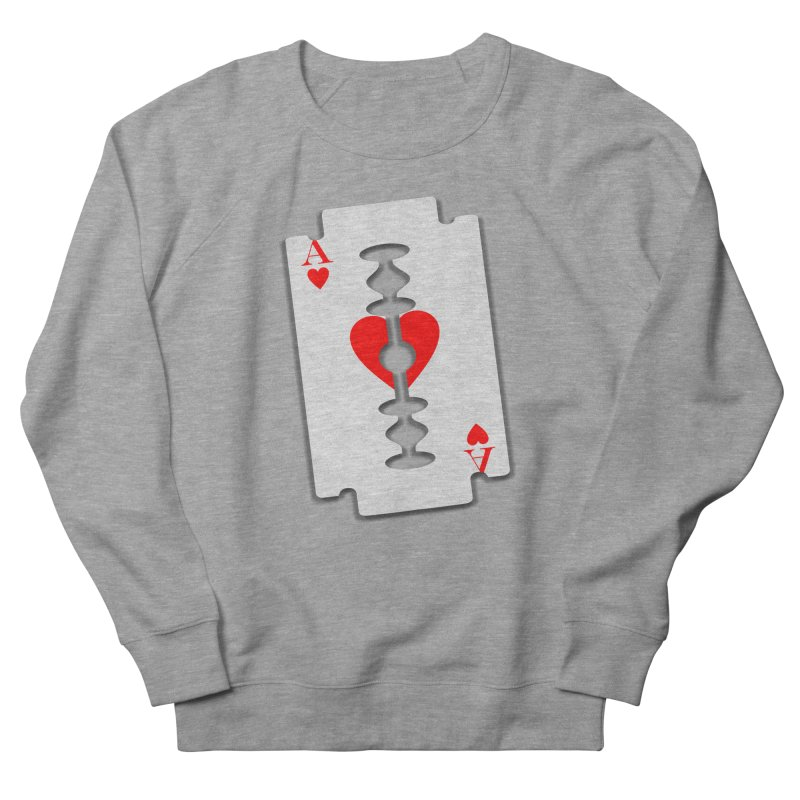 LOVE HURTS Men's French Terry Sweatshirt by Sinazz's Artist Shop