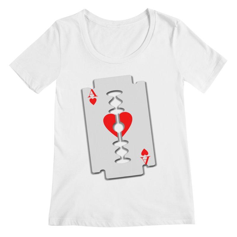 LOVE HURTS Women's Scoopneck by Sinazz's Artist Shop
