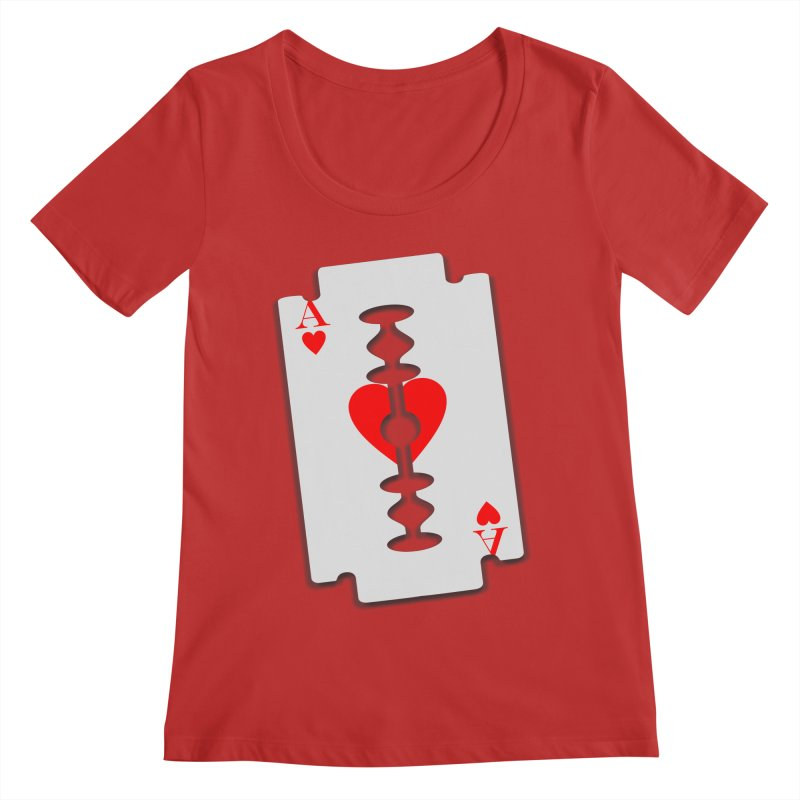 LOVE HURTS Women's Regular Scoop Neck by Sinazz's Artist Shop