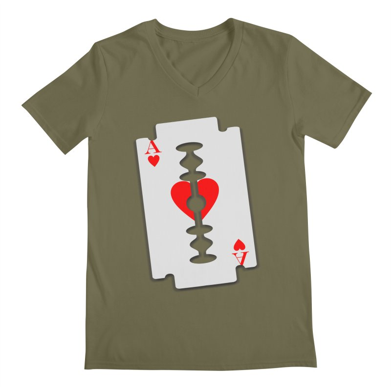 LOVE HURTS Men's V-Neck by Sinazz's Artist Shop