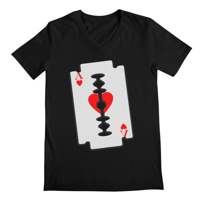 LOVE HURTS Men's Regular V-Neck by Sinazz's Artist Shop