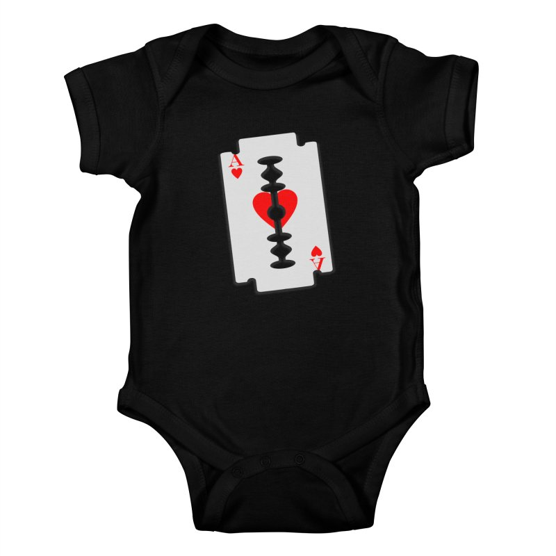 LOVE HURTS Kids Baby Bodysuit by Sinazz's Artist Shop