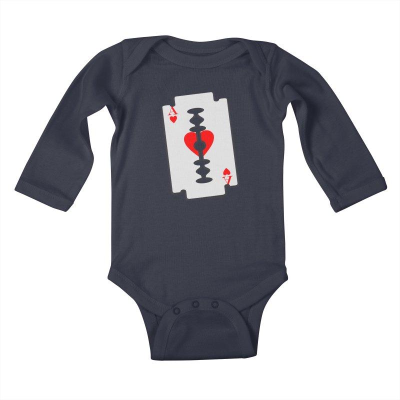 LOVE HURTS Kids Baby Longsleeve Bodysuit by Sinazz's Artist Shop