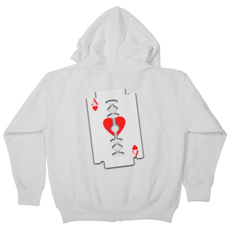 LOVE HURTS Kids Zip-Up Hoody by Sinazz's Artist Shop