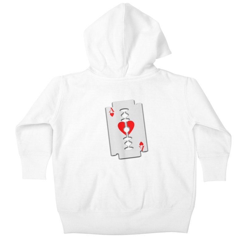 LOVE HURTS Kids Baby Zip-Up Hoody by Sinazz's Artist Shop