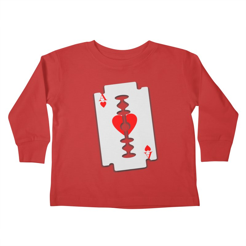 LOVE HURTS Kids Toddler Longsleeve T-Shirt by Sinazz's Artist Shop