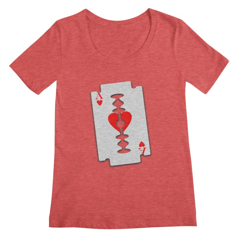 LOVE HURTS Women's Scoopneck by Sinazz's Artist Shop