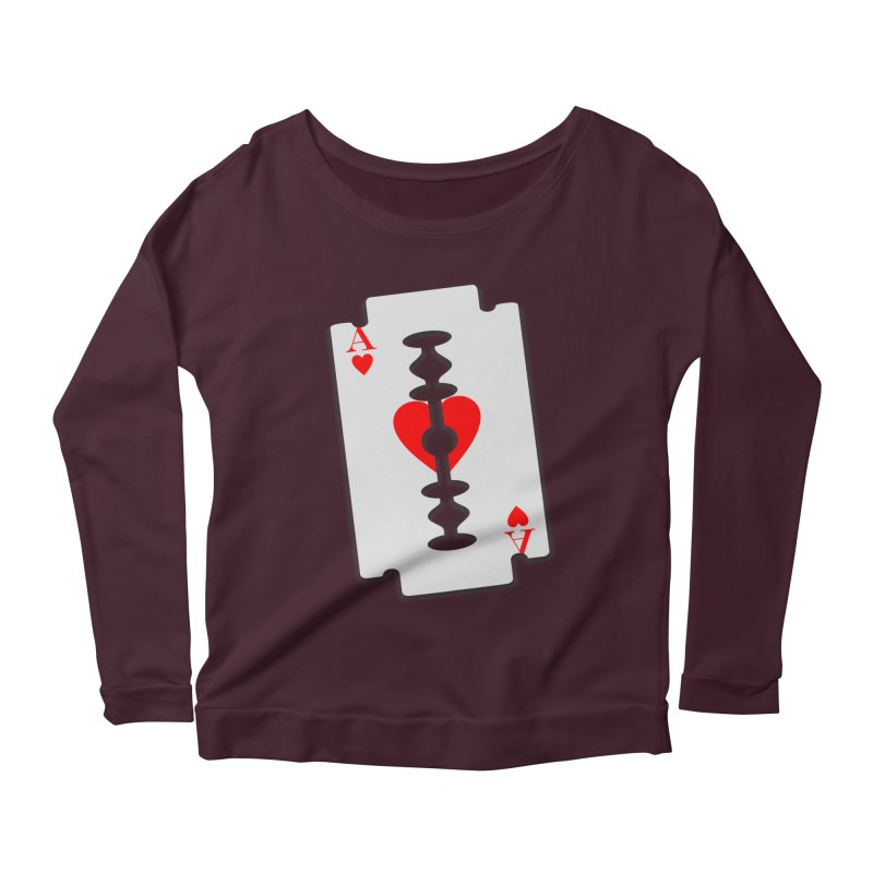 LOVE HURTS Women's Scoop Neck Longsleeve T-Shirt by Sinazz's Artist Shop