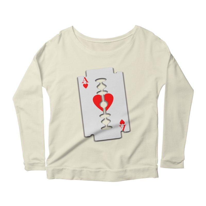 LOVE HURTS Women's Scoop Neck Longsleeve T-Shirt by Sinazz's Artist Shop