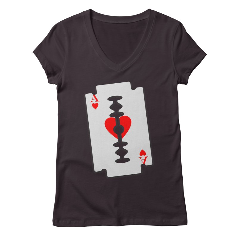 LOVE HURTS Women's Regular V-Neck by Sinazz's Artist Shop