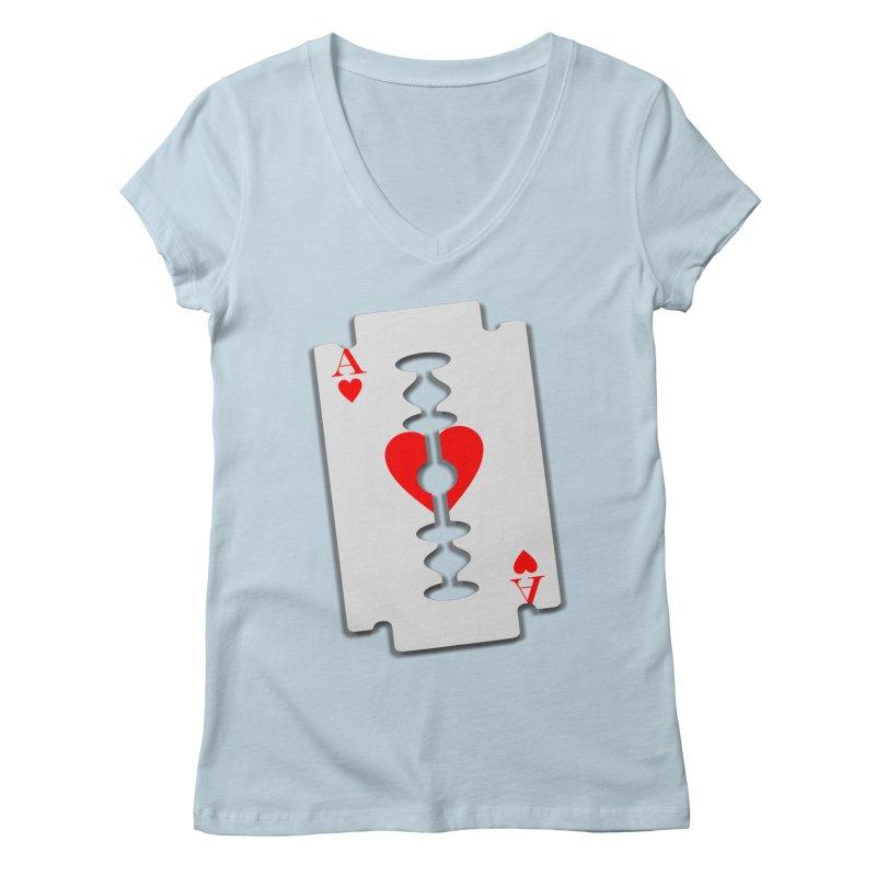 LOVE HURTS Women's Regular V-Neck by Sinazz's Artist Shop