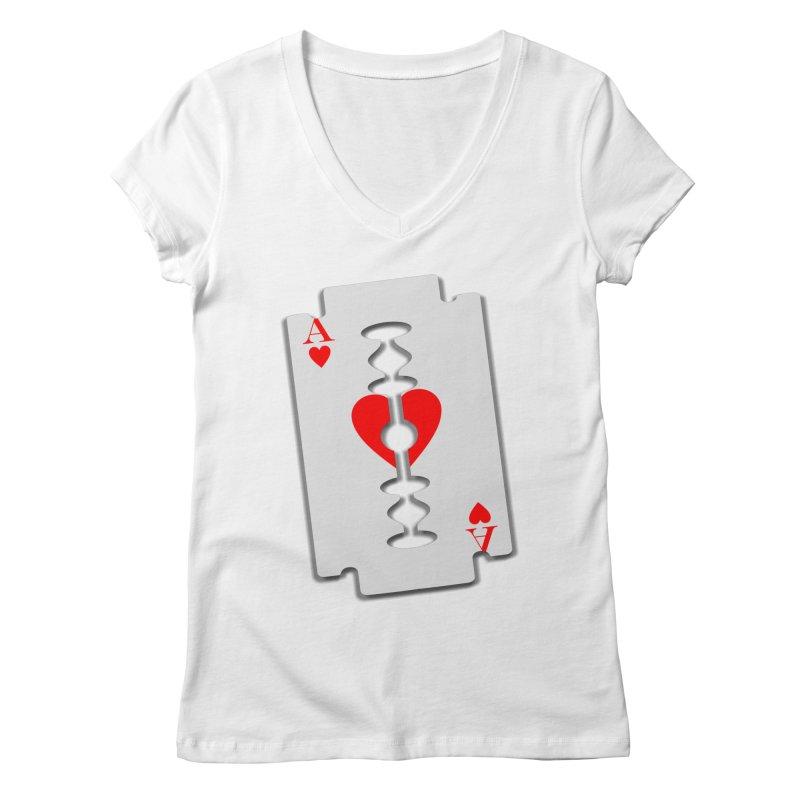 LOVE HURTS Women's V-Neck by Sinazz's Artist Shop