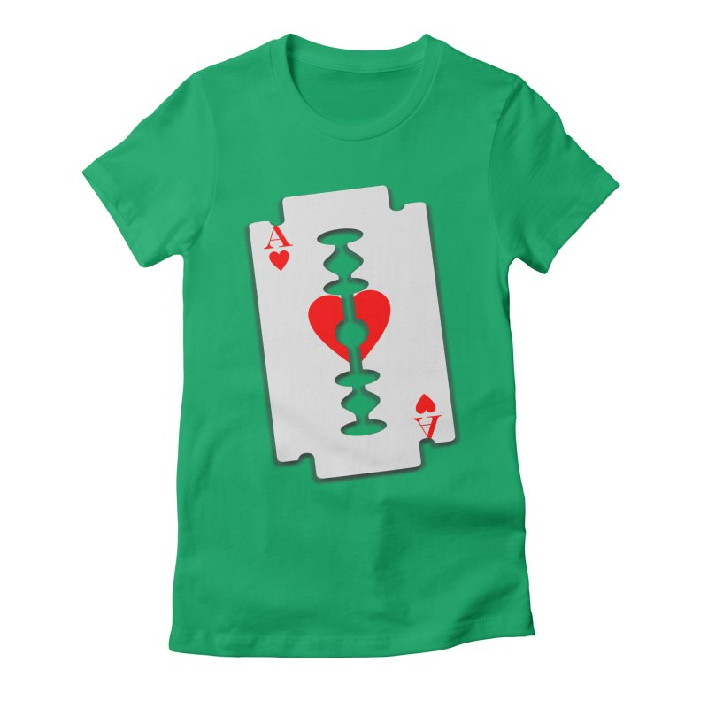 LOVE HURTS Women's Fitted T-Shirt by Sinazz's Artist Shop